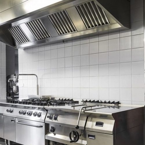 A Picture of a Modern Industrial Kitchen.
