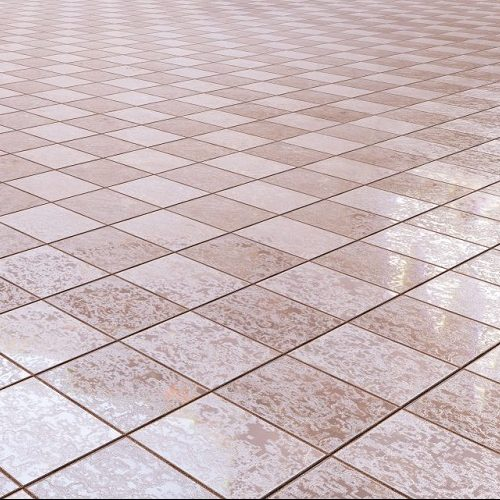 A Picture of Pinkish Floor Tile.