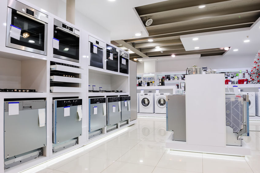 A Picture of a Showroom for Gas and Electric Stoves.