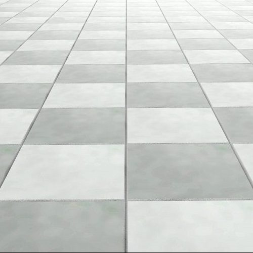 A Picture of Gray and White Floor Tiles.
