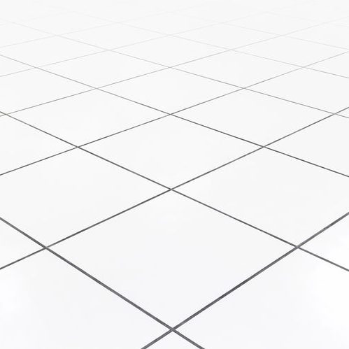 A Picture of a White Tile Floor.